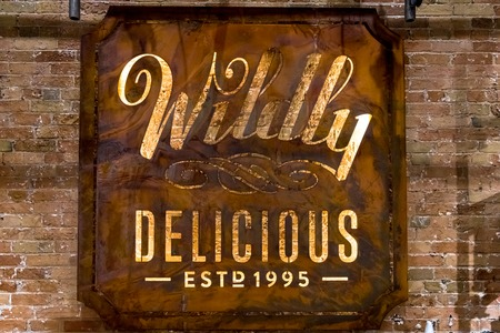 Wildly Delicious Fine Foods sign.  The cozy store and cafeteria is located in the Historic Distillery District