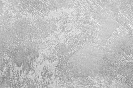 Photo pour Texture of gray decorative plaster or concrete. Abstract black and white backdrop for design. Art stylized banner with copy space for text. - image libre de droit