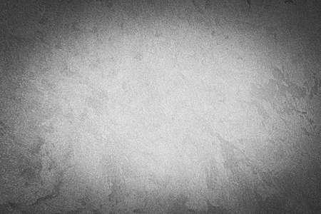 Foto de Gray decorative plaster texture with vignette. Abstract grunge background with copy space for design. - Imagen libre de derechos