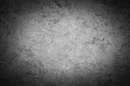 Photo pour Gray decorative plaster texture with vignette. Abstract grunge background with copy space for design. - image libre de droit