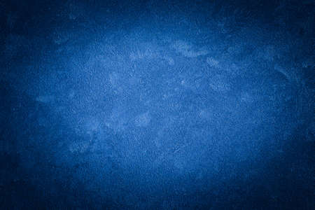 Foto für Blue decorative plaster texture with vignette. Abstract grunge background with copy space for design. - Lizenzfreies Bild
