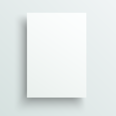 Illustration for Empty sheet of paper template. Realistic vector background. - Royalty Free Image