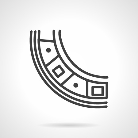 Roller bearing part. Simple line vector icon. Spare parts, details and components of different mechanisms. Design symbols for business and website.