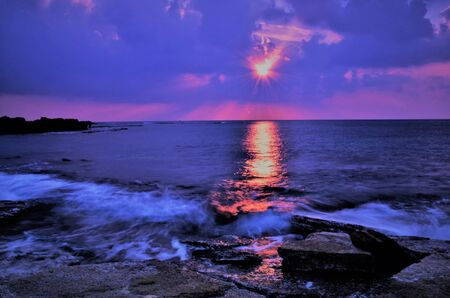 Photo for A crazy sunset in Israel Views of the Holy Land - Royalty Free Image