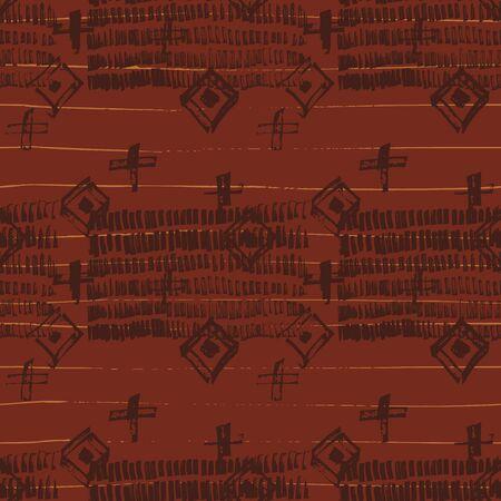 Illustration pour Tie Dye Geometric Shibori Seamless Pattern. Scribble Cartoon Doodle Craft Texture. Boho Tie Dye Wash Batik. Geo Wabi Sabi Traditional Kimono Print. - image libre de droit