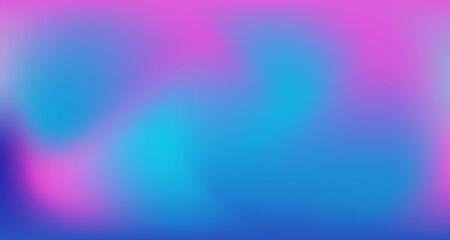 Illustration pour Blue Purple Pink Digital Gradient Background. Liquid Neon Bright Trendy Wallpaper. Pearlescent Noble Vector Color Overlay. Elegant Colorful Vibrant Unfocused Horizontal Banner. 80s Glam Gradient Paper - image libre de droit