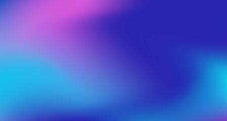 Illustration pour Blue Purple Pink Digital Gradient Background. Elegant Colorful Vibrant Defocused Horizontal Banner. Fluid Neon Bright Trendy Wallpaper. Iridescent Noble Vector Color Overlay. 80s Glam Gradient Paper - image libre de droit