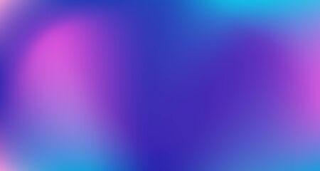 Illustration pour Blue Purple Pink Digital Gradient Background. Elegant Colorful Vibrant Defocused Horizontal Banner. Liquid Neon Bright Trendy Wallpaper. Fluorescent Noble Vector Color Overlay. 80s Glam Gradient Paper - image libre de droit