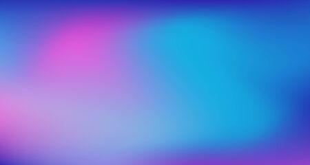 Illustration pour Blue Purple Pink Digital Gradient Background. Fluorescent Noble Vector Color Overlay. Elegant Colorful Vibrant Unfocused Horizontal Banner. Liquid Neon Bright Trendy Wallpaper. 80s Glam Gradient Paper - image libre de droit