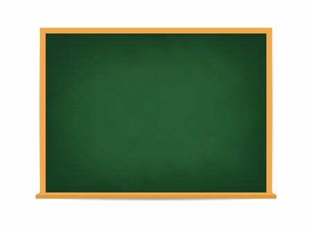 Ilustración de School board. Green blackboard. Dirty school board with traces of chalk isolated on background. Vector - Imagen libre de derechos