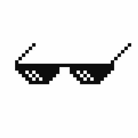 Meme glasses with joint or