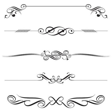 vector file of horizontal elements decoration design