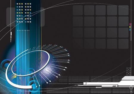 Illustration pour high-tech infinity concept with black color background - image libre de droit
