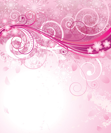 Abstract pink floral background in pink.