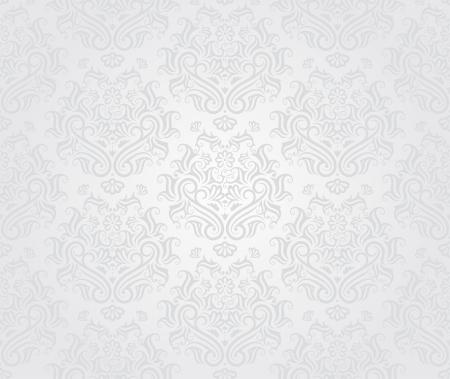 Seamless retro wallpaper pattern in light colors.