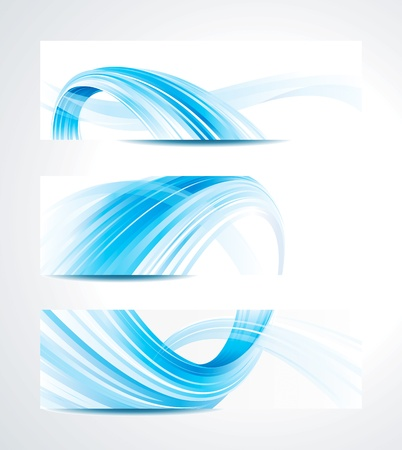Illustration pour Set of abstract technology header background. - image libre de droit