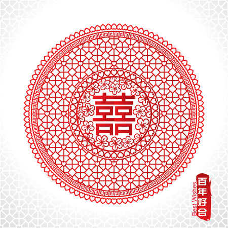 Traditional Chinese marriage symbol of double happiness