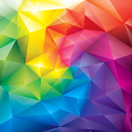 Ilustración de Abstract polygonal gems colors background  - Imagen libre de derechos