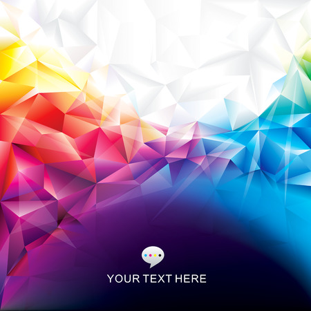 Colorful abstract polygonal design background