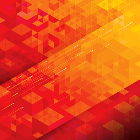 Foto de Geometric structure technical abstract red background. - Imagen libre de derechos