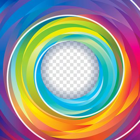 Colorful swirl circle background.