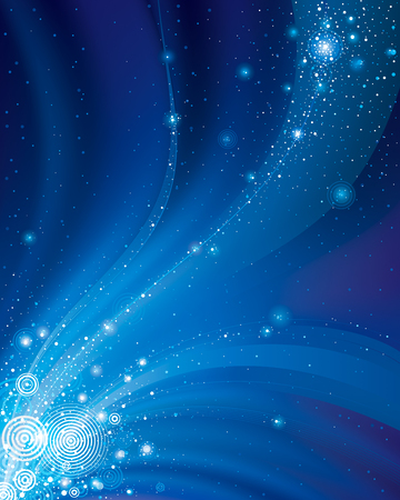 Ilustración de Abstract galaxy dark blue background. - Imagen libre de derechos