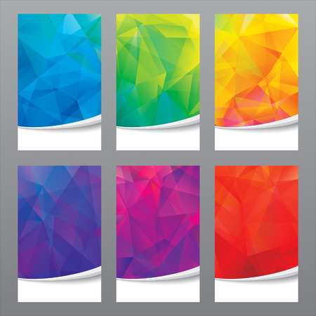 Ilustración de Set of modern geometric colors background. - Imagen libre de derechos