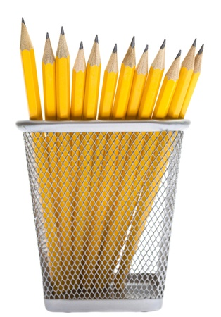 Pencils in the pencil holders