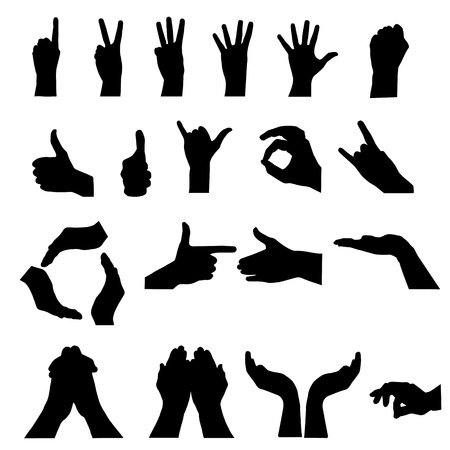 hand signal on white. vector illustration