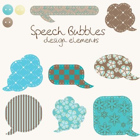 Illustration pour set of different speech bubbles, design elements - image libre de droit