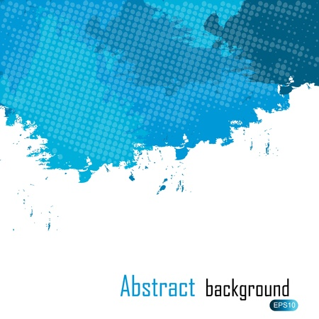 Blue abstract paint splashes illustration. Background with place for your text.