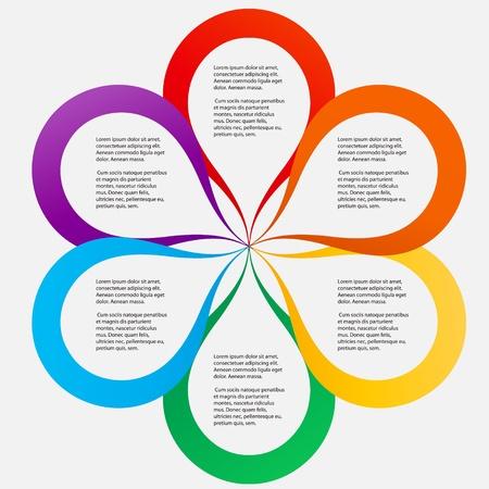 Foto de Concept of colorful circular banners in flower form for different business design   - Imagen libre de derechos