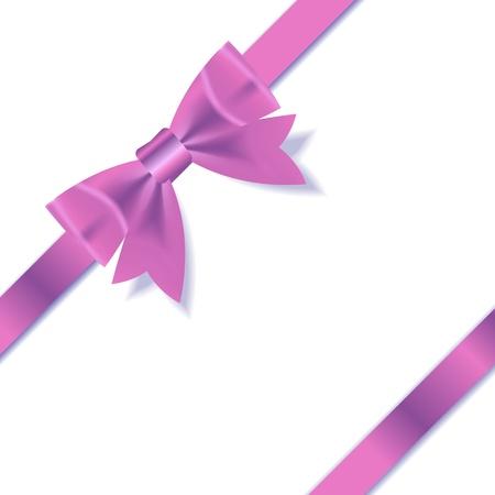 Pink Gift Ribbon    illustration