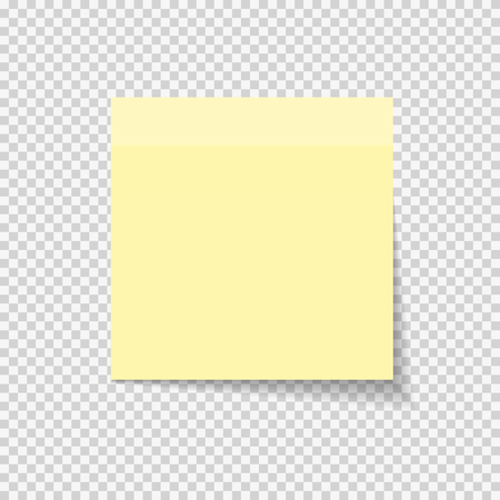 Illustration for Sticky Paper Note on Transparent Background  Vector Illustration EPS10 - Royalty Free Image