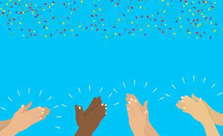 Ilustración de Hands clapping vector Illustration. - Imagen libre de derechos