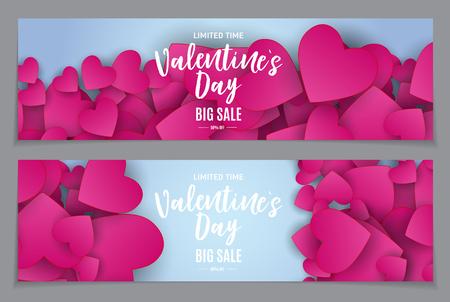 Illustration pour Valentines Day Love and Feelings Sale Background Design. Vector illustration - image libre de droit