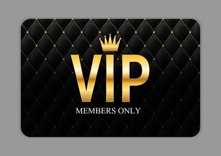 Illustration pour Luxury Members, Gift Card Template for your Business Vector Illustration - image libre de droit