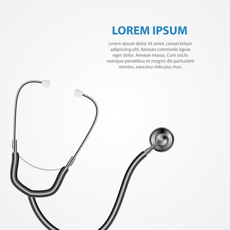 Illustration pour Medical tool stethoscope background. Vector Illustration EPS10 - image libre de droit