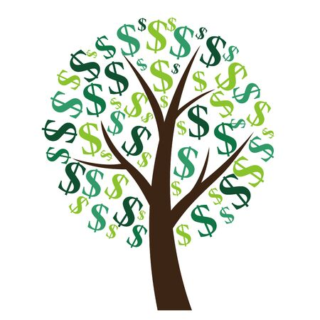 Illustration for Financial concept. Money tree - symbol of successful business.  Vector Illustration EPS10 - Royalty Free Image