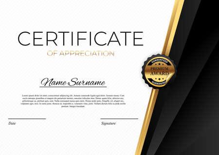 Illustration pour Certificate template Background. Award diploma design blank. Vector Illustration - image libre de droit