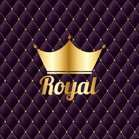 Illustration for Golden Crown Royal Vintage Luxury Background. Vector Illustration - Royalty Free Image