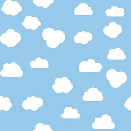 Illustration pour Cloud Seamless Pattern blue background. Vector Illustration - image libre de droit