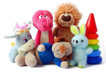 Foto de Children's toys on a white background it is isolated - Imagen libre de derechos