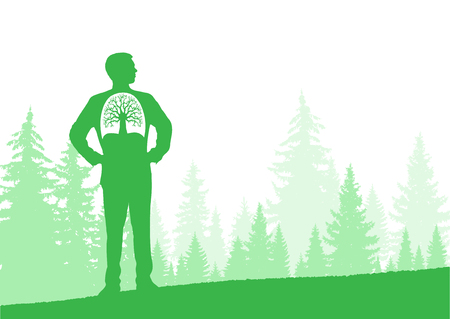 Illustration pour Horizontal eco banner. Can be used as poster, background, backdrop - image libre de droit