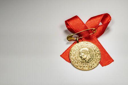 Photo for half Turkish gold lira - Royalty Free Image
