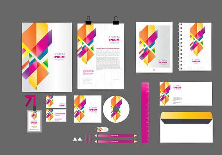 Ilustración de corporate identity template  for your business 004 - Imagen libre de derechos