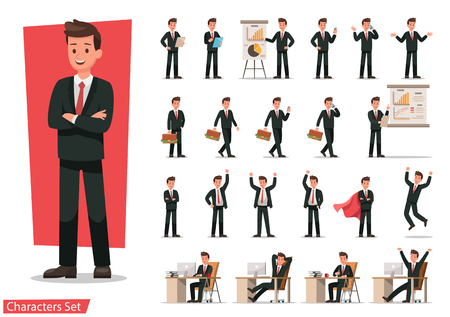 Photo for Set of Businessman character design. - Royalty Free Image