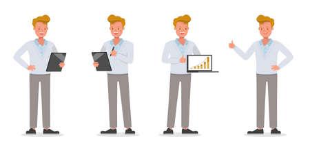 Illustration pour Businessman working character vector design no62 - image libre de droit