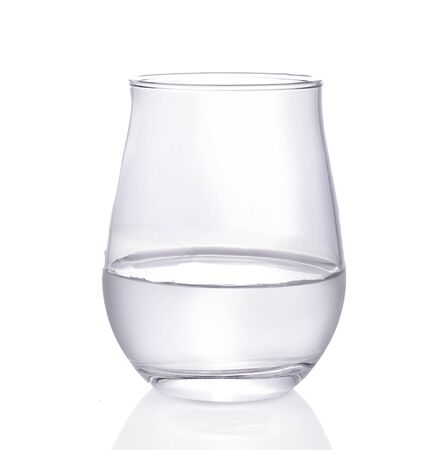 Photo pour glass of water isolated on white background. - image libre de droit
