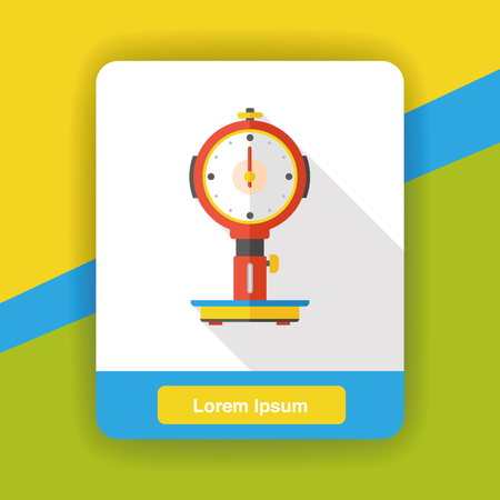 Weighing machine flat icon